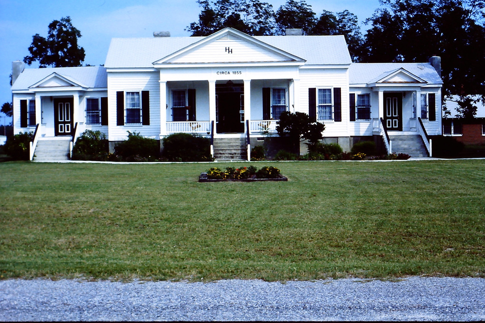 Hoffman House after restoration by Gene Brantley.  Photo about 1985 by Hudnalle McLean Sr.