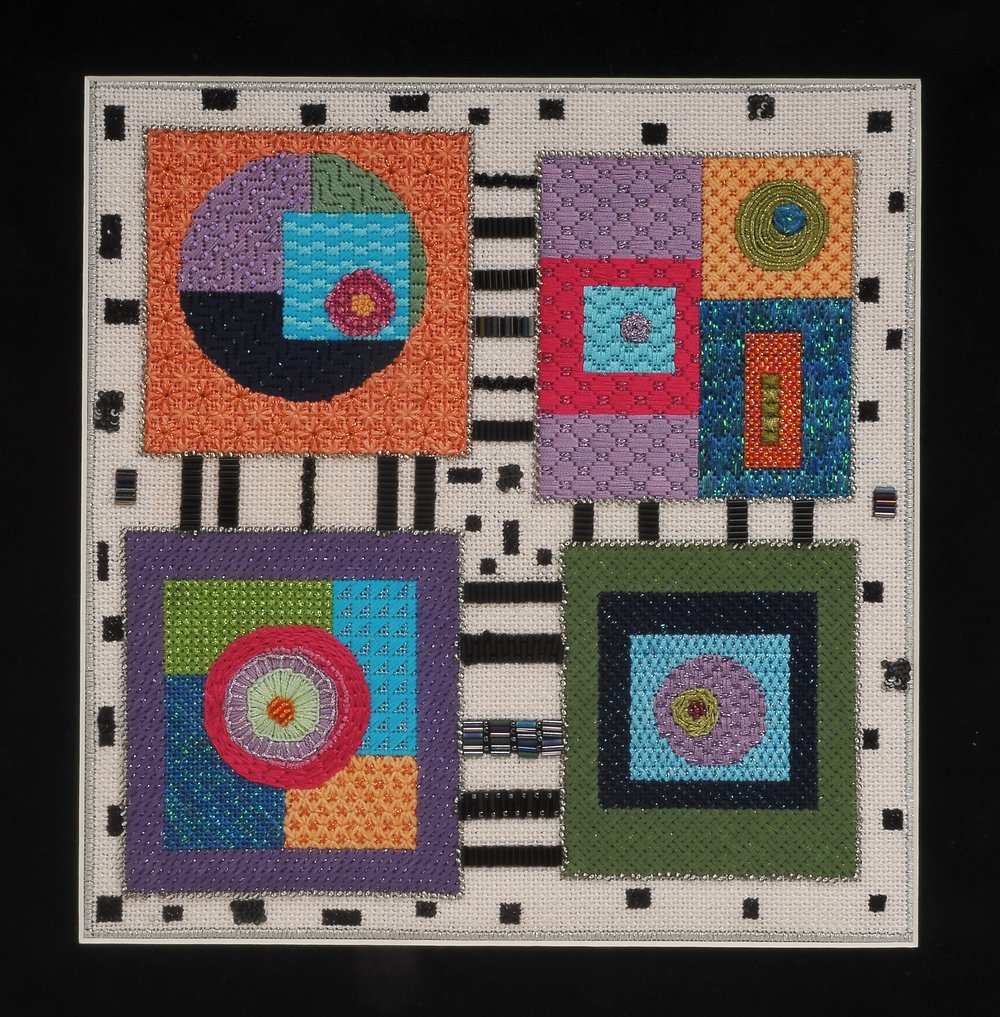 Contemporary Geometric Quilts - BB 26 Four Squares Quilt