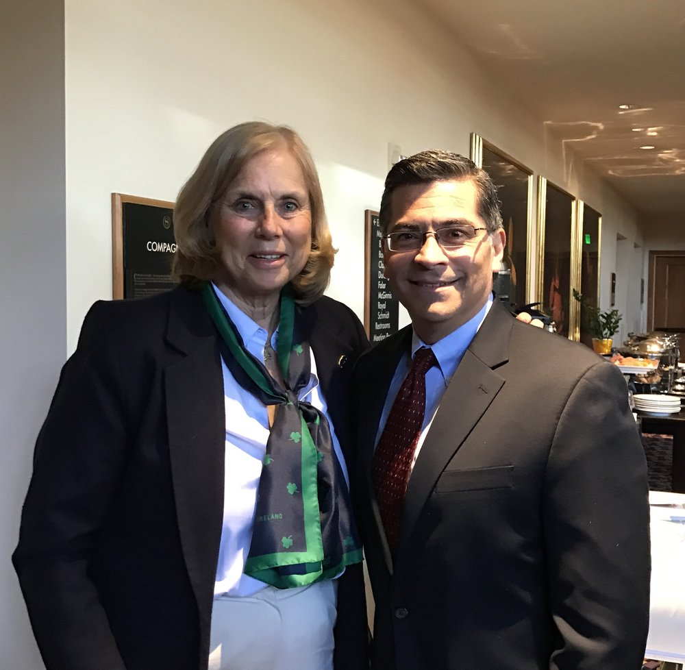 Meeting with California's new state Attorney General, Xavier Becerra