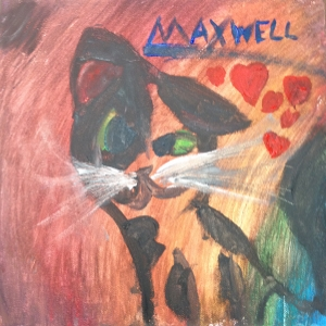 One of our lovely students at Deer Run Elementary did this pet portrait of her cat Maxwell.