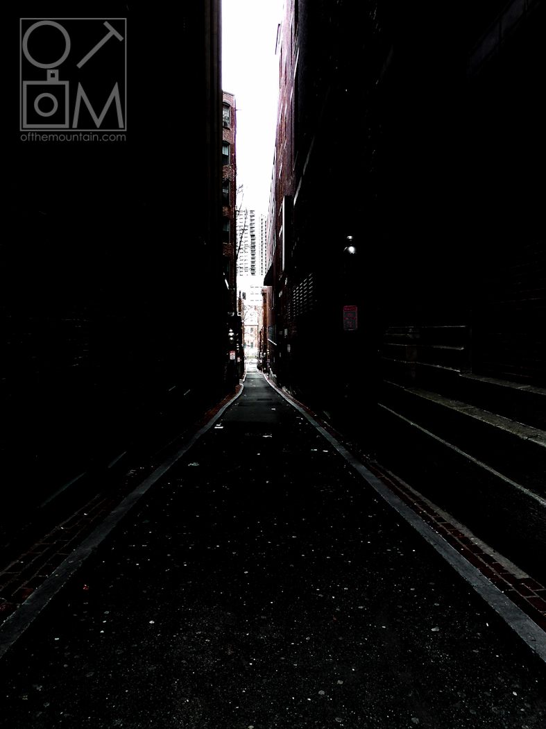 Boston - Downtown - Dark Alley