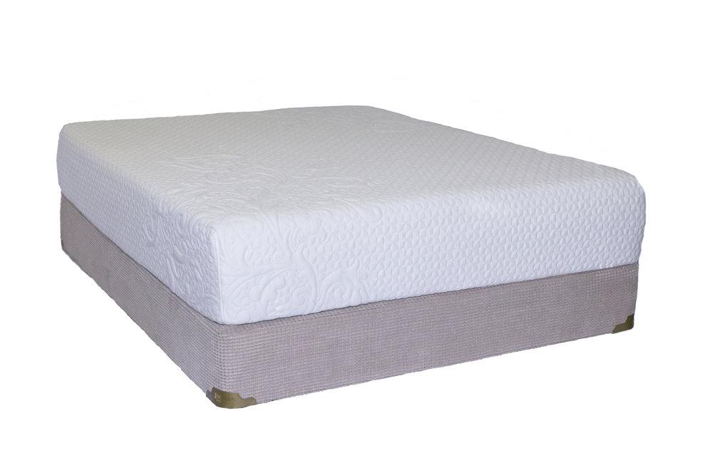 """The Jordan 12"""" Gel Memory Foam mattress features Omalon core, memory foam and gel infused memory foam for a cooler softer feel."""
