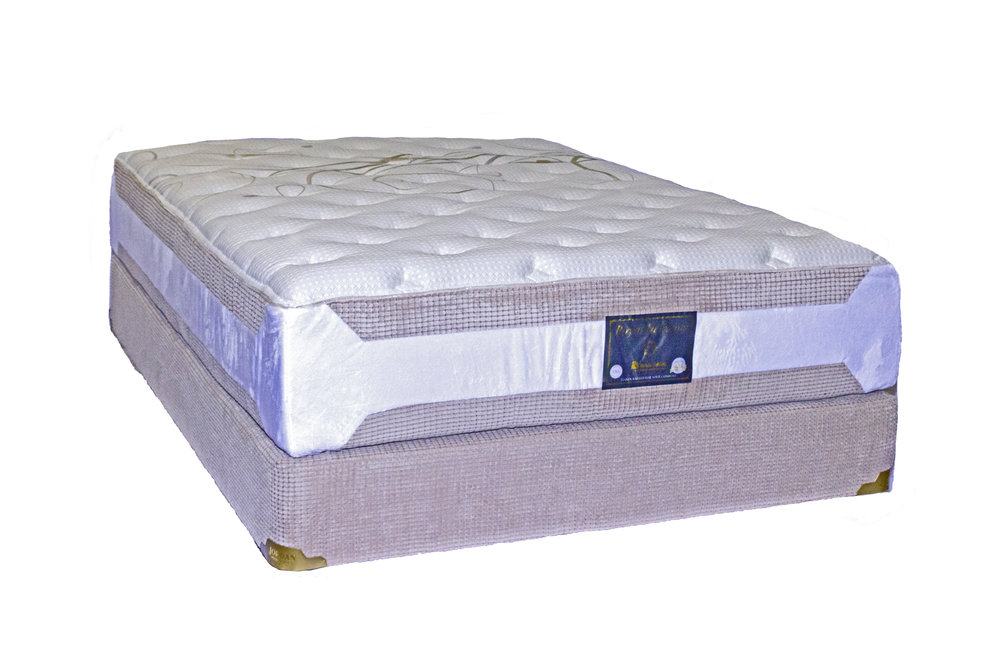 This beautifully upholstered mattress features Omalon Foam, memory foam, gel infused memory foam and extra plush top.