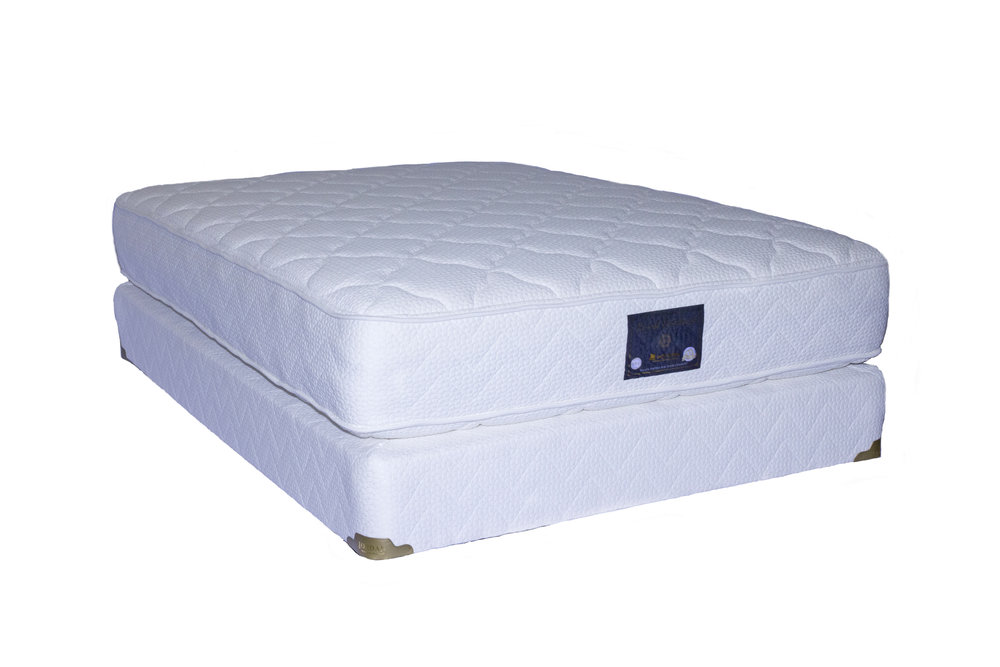 This luxurious mattress features pocketed coils with layers of cotton and foam and a plush quilted top both sides.