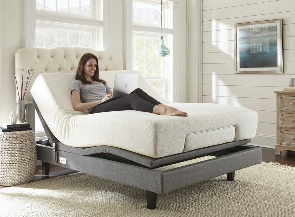 The W Silver line of adjustable bases work with a variety of Jordan Mattresses from Memory Foam to Pillow Tops.