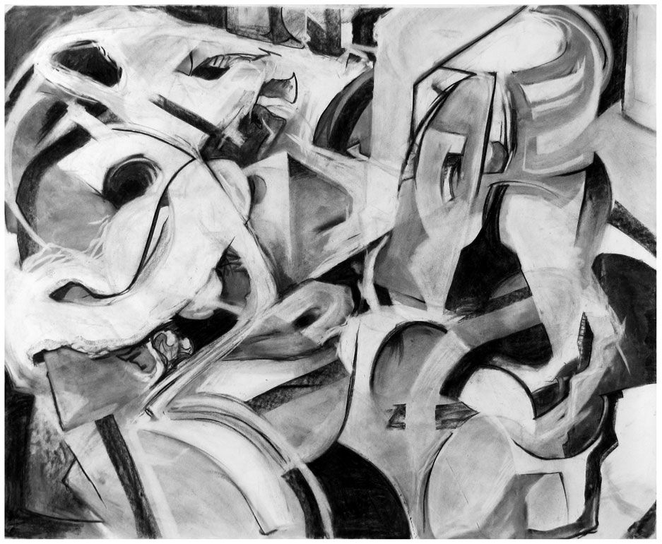 Marbles #3   Charcoal on paper, 2013