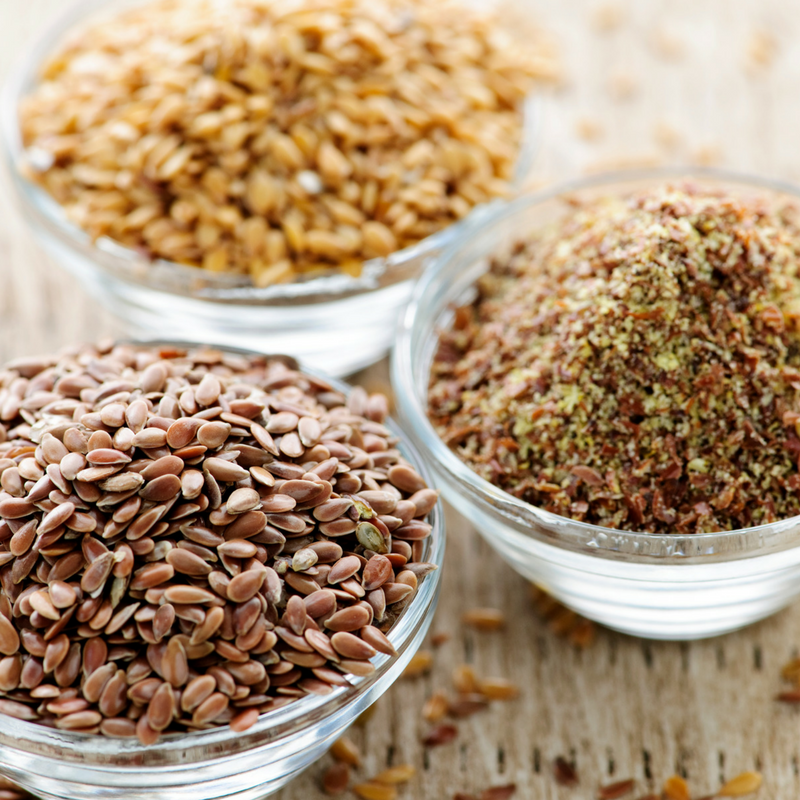 Flax seeds, rich in omega 3 Photo Credit: Pixabay
