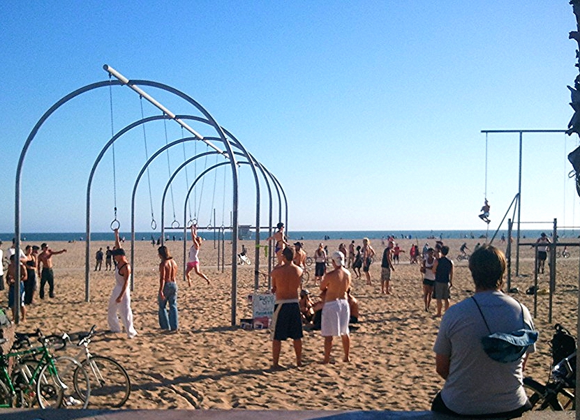 Muscle Beach-public athletic equipment
