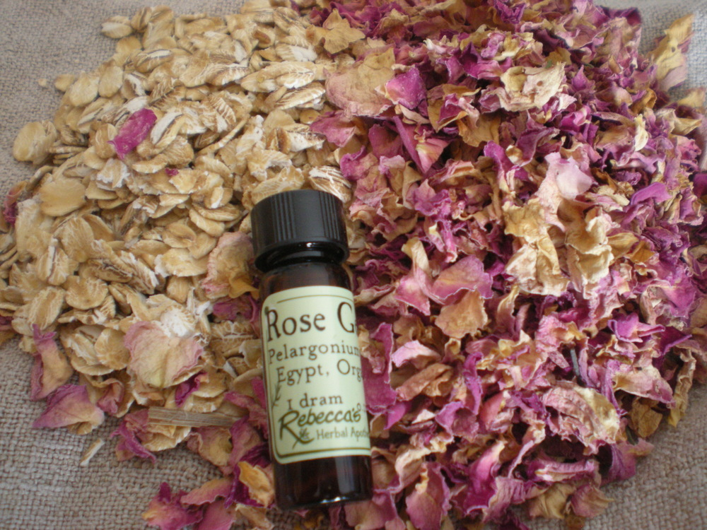 Rosy Oatmeal Bath