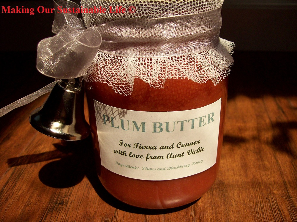 Plum Butter from Making Our Sustainable Life