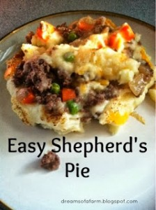 Easy Shepherd's Pie from Dreams of a Farm