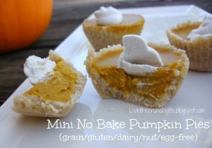 Mini No Bake Pumpkin Pies (GF, DF, NF, EF) by Livin' the Crunchy Life