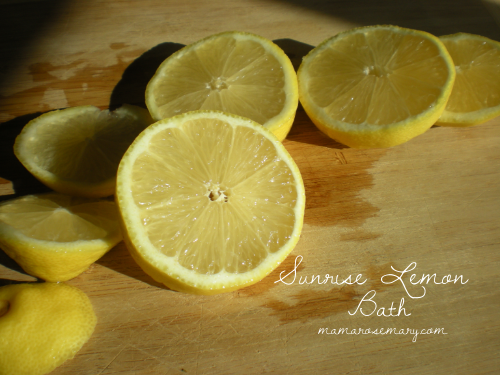 Lemons at sunrise.