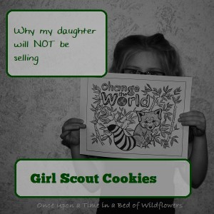 Why My Daughter Will Not be Selling GirlScout Cookies by Once Upon a Time in a Bed of Wildflowers