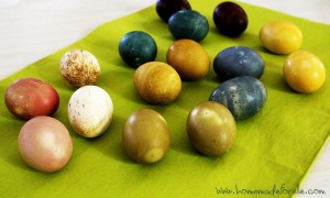 Homemade Easter Egg Dye by Homemade for Elle