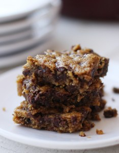 Vanilla Chocolate Chip Blondies GF by Worth Cooking