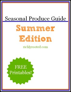 Seasonal Produce Guide by Richly Rooted