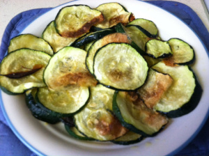 Roasted Garlic Zucchini recipe from Taste and See