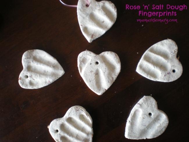 Rosey Salt Dough Finger Prints