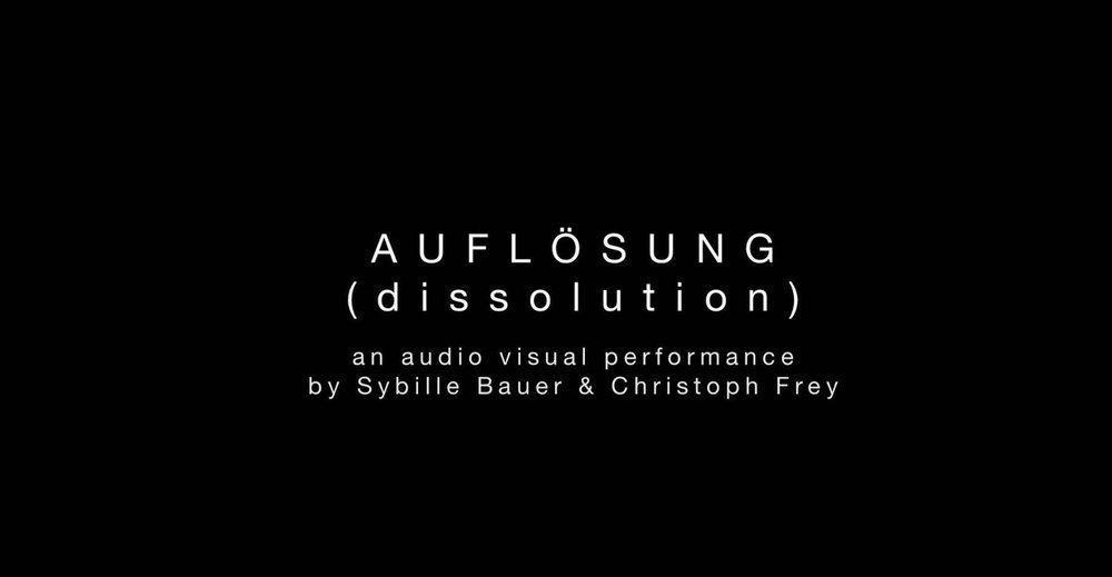 Die Auflösung - << Audiovisual Performance, 2014>> More Information