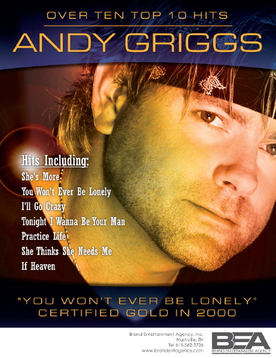 Featured entertainer will be country artist Andy Griggs