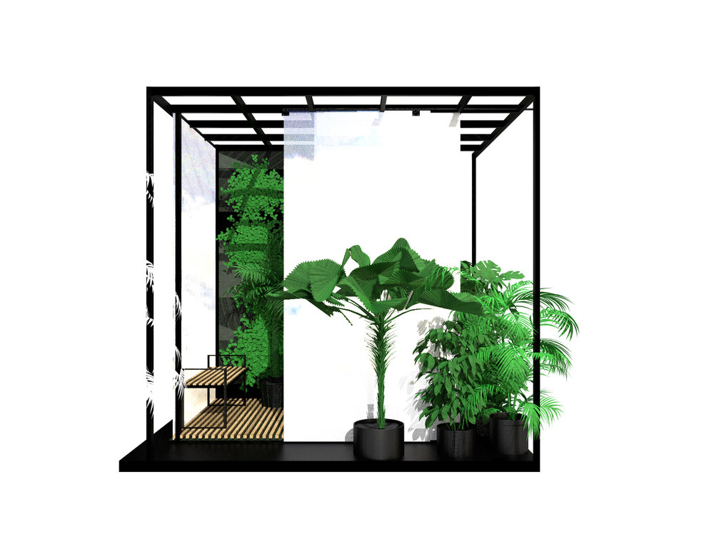 A greenhouse designed to reconnect visitors to nature. A sanctuary for healing, meditation, gratitude and contemplation. Work in Progress
