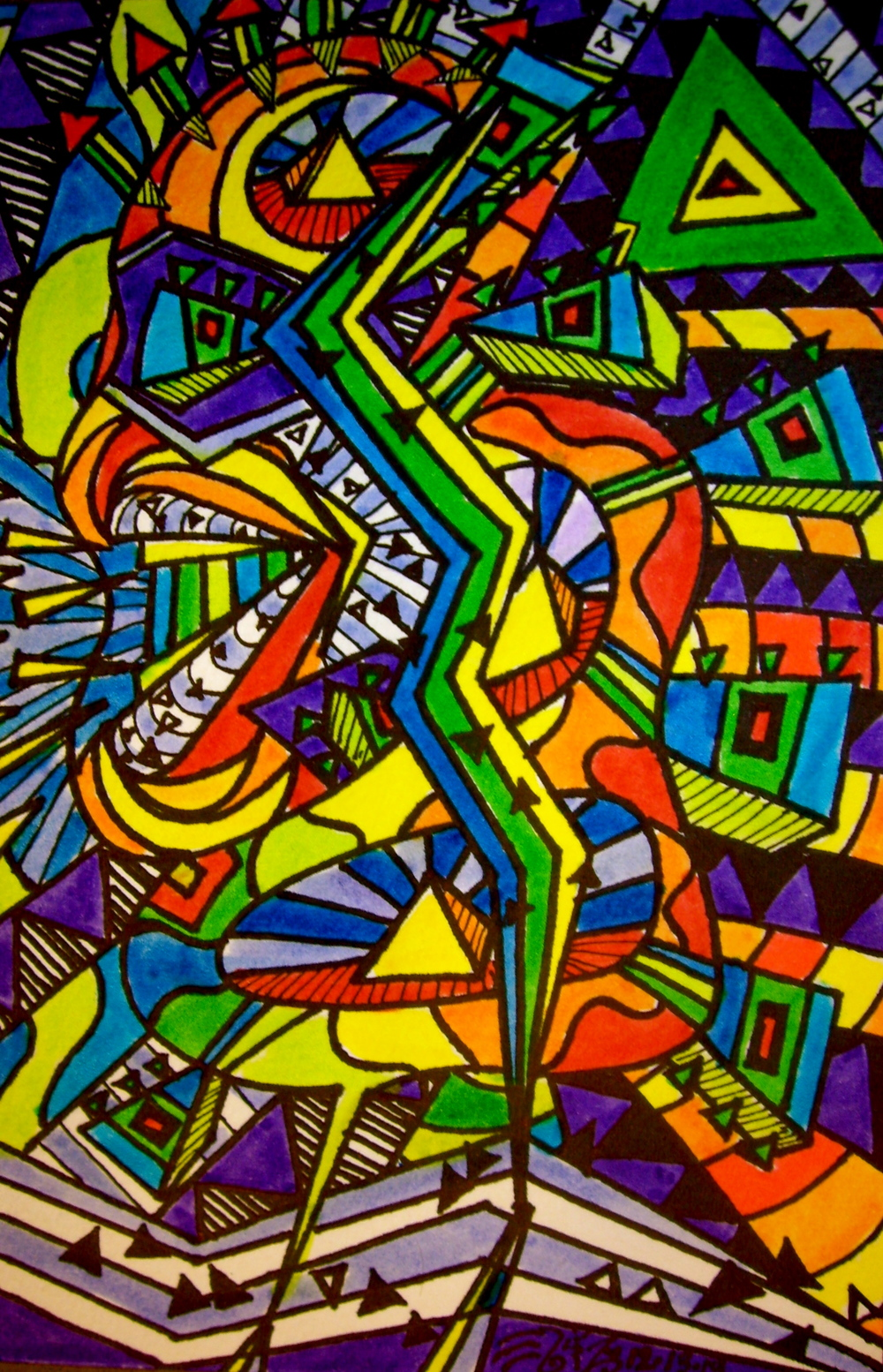 "Ink on paper. 5""  x 7 1/2"". 12/13/13.   Purchase a print here."