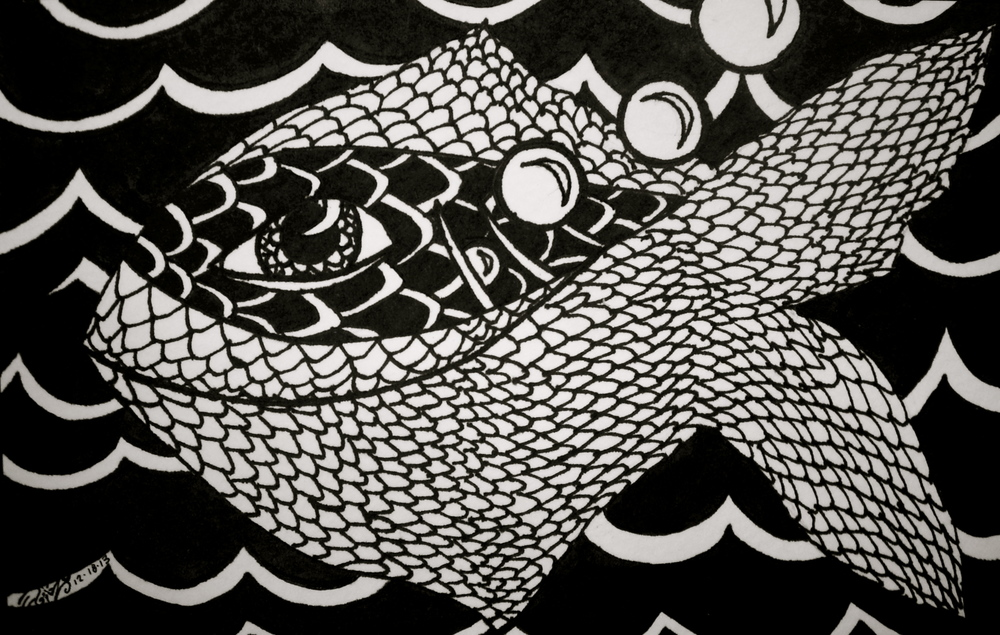 """Permanent ink on paper. 6 1/2"""" x 4"""". 12/18/13.  Win it here.   Purchase a print here."""