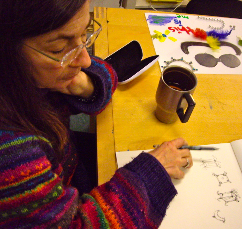 Jessica is designing a wood lantern, she's been musing about for months.