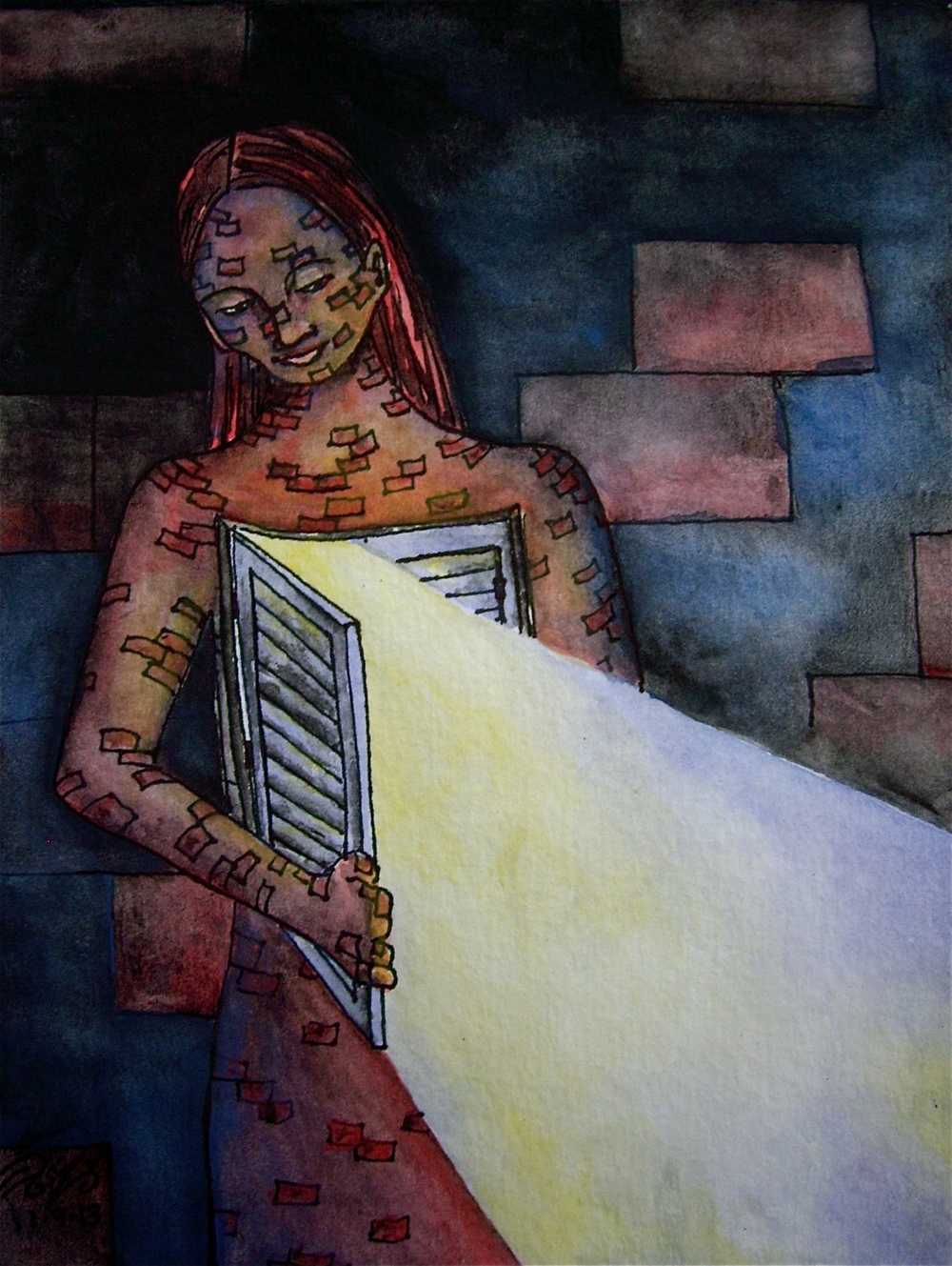 "Watercolor and permanent ink on paper. 6"" x 7 1/2"". 1/9/2014.  PURCHASE A PRINT HERE."