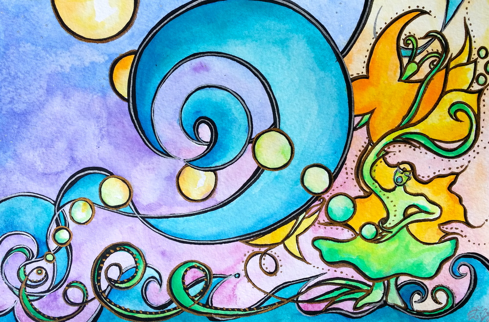 """Watercolor and ink on paper. 8"""" x 5""""  Order a print here."""