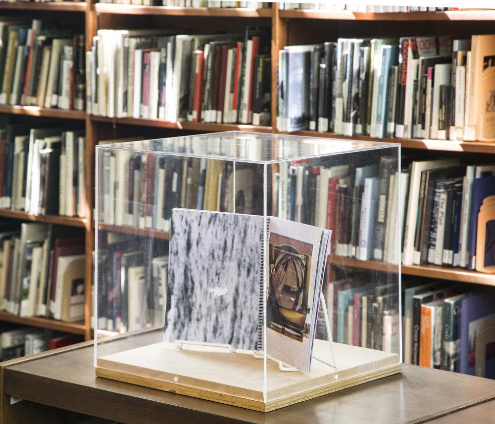 "Installation view of ""eclipsis"" (artist book)"