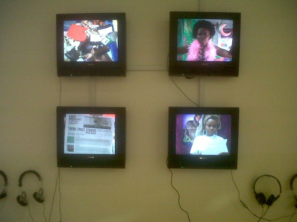 Autobiography of a Year  by damali abrams, four-screen video installation, 2010