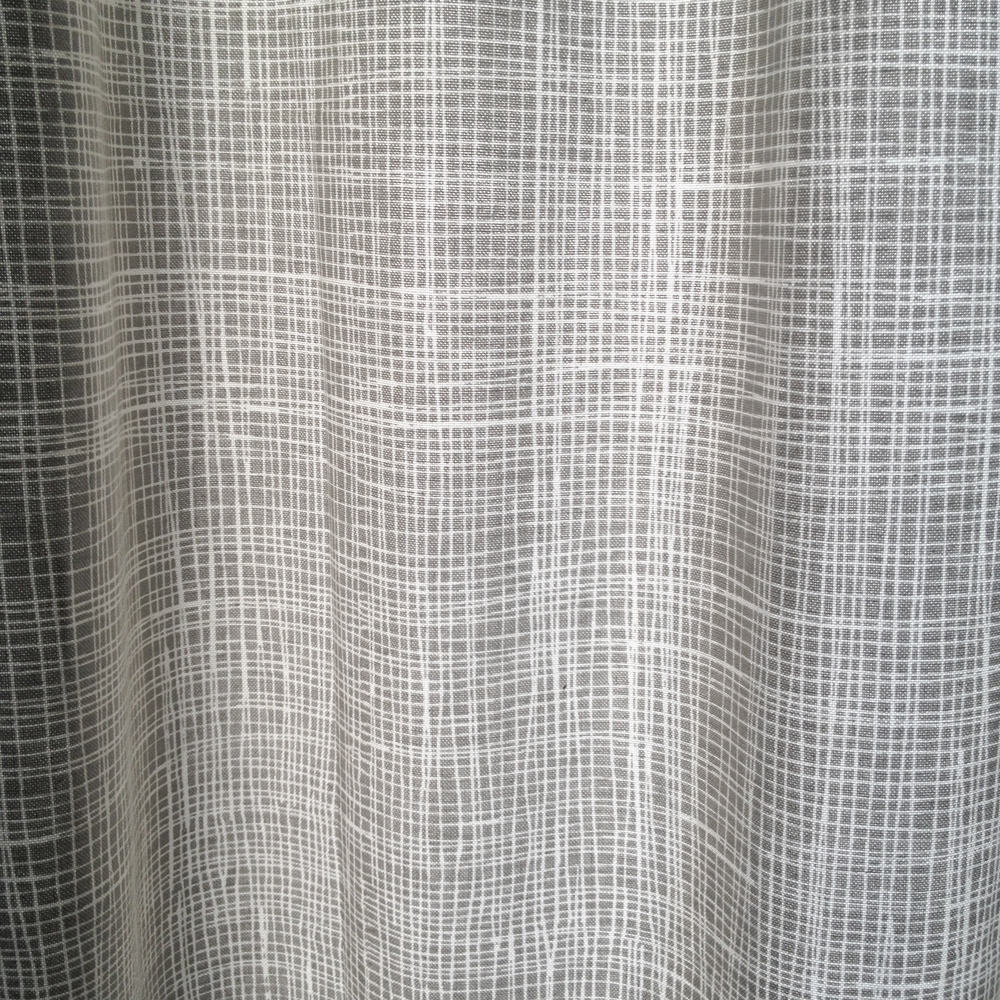 Machine printed curtain pattern