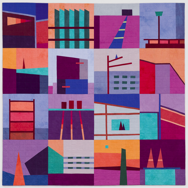 """Big Quilt #2"" (purple), New work by Erin Wilson"