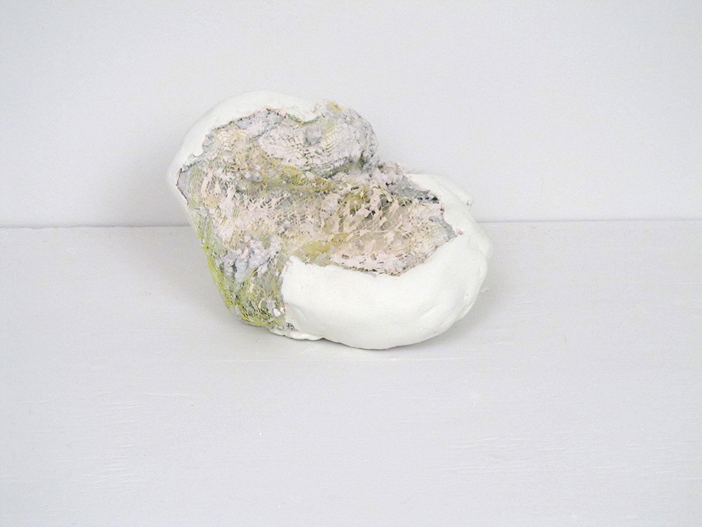 Jaw  by Megan Hays, Plaster, mesh, gouache, 7 x 7 x 5 inches,  2013