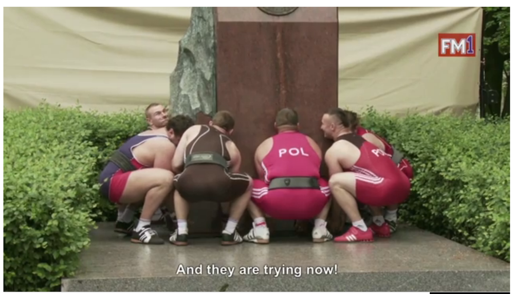A still from Christian Jankowski's Heavy Weight History. Sourced from Nowness.com