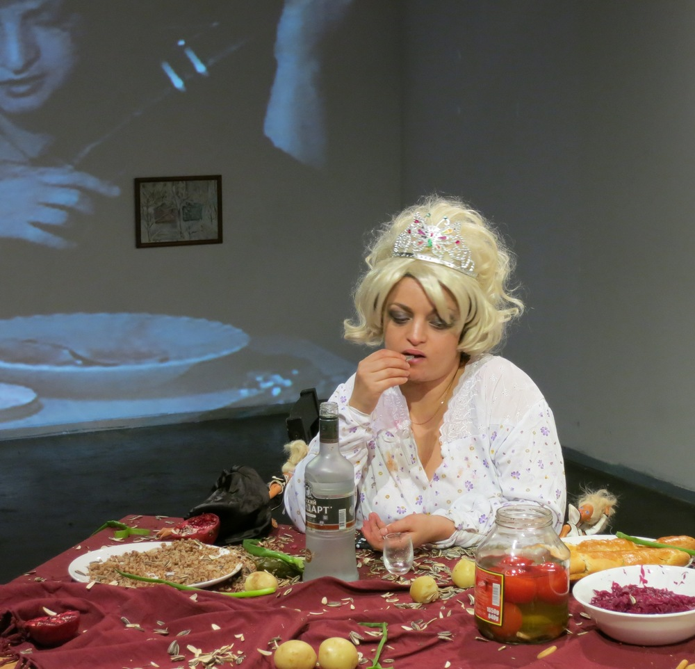 Katya Grokhovsky, Who Ate Odessa?, 2012, 8 hrs, performance