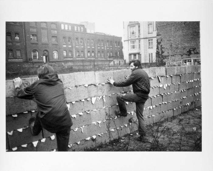 Allan Kaprow,  Sweet Wall,  1970, Activity. Photo by Dick Higgins. Courtesy of Hannah Higgins.  via Xtra