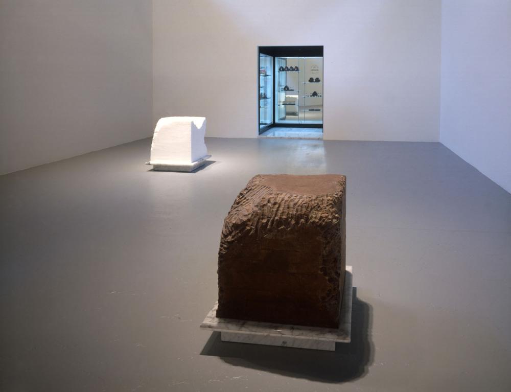 Gnaw , Janine Antoni, 1992.  via The Brooklyn Museum