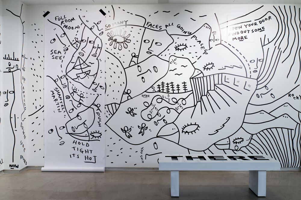 ARE YOU YOU exhibition at MoCADA by artist Shantell Martin, photo by Steven Harris