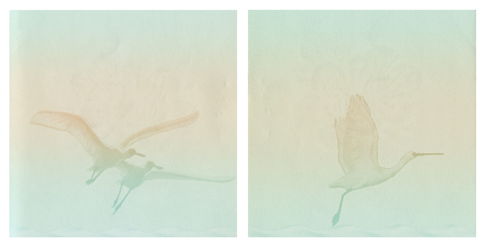 Jesse Chun,  Landscape #3 (diptych) , Archival Inkjet Print, 22 x 22 inches each