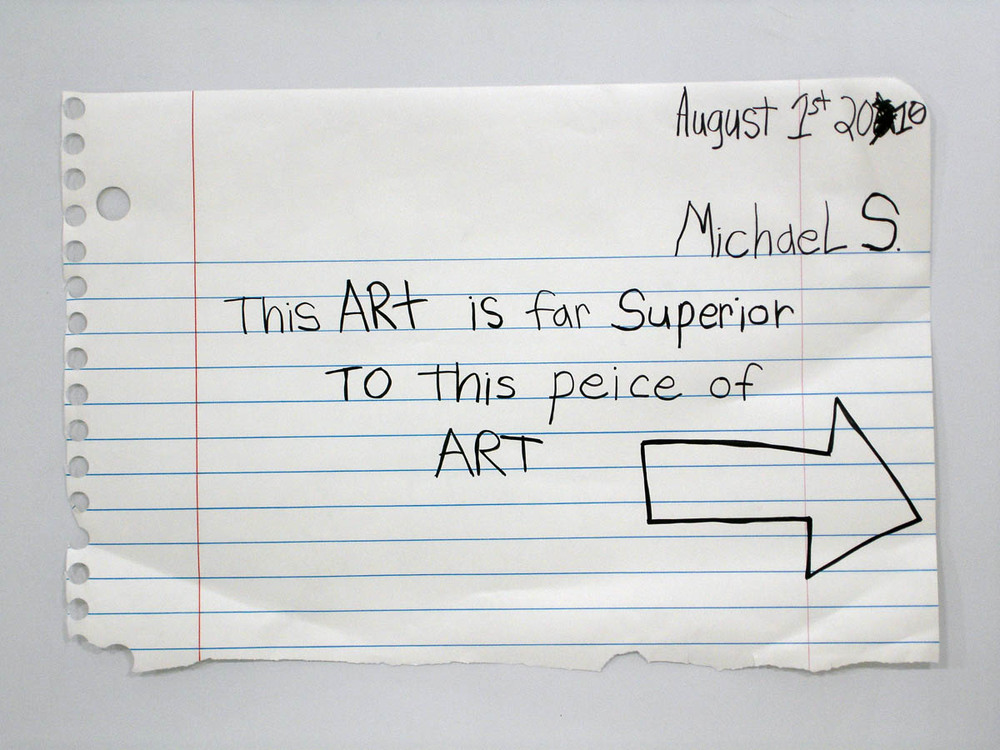 "Michael Scoggins  Far Superior                                                                                   marker, colored pencil on paper                        35""X51""                                     2010"