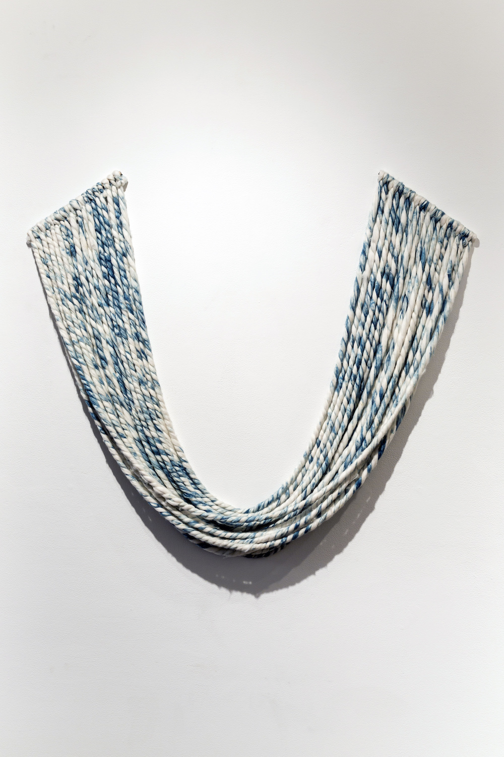 "Liz Robb, Two Ply Smile, 2013, 48"" x 48"", dimensions variable, handspun & hand dyed cotton"