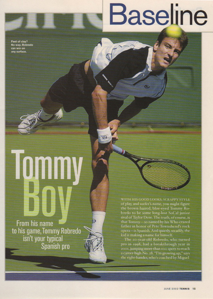 Tennis Magazine, Assistant Art Director  design, art direction
