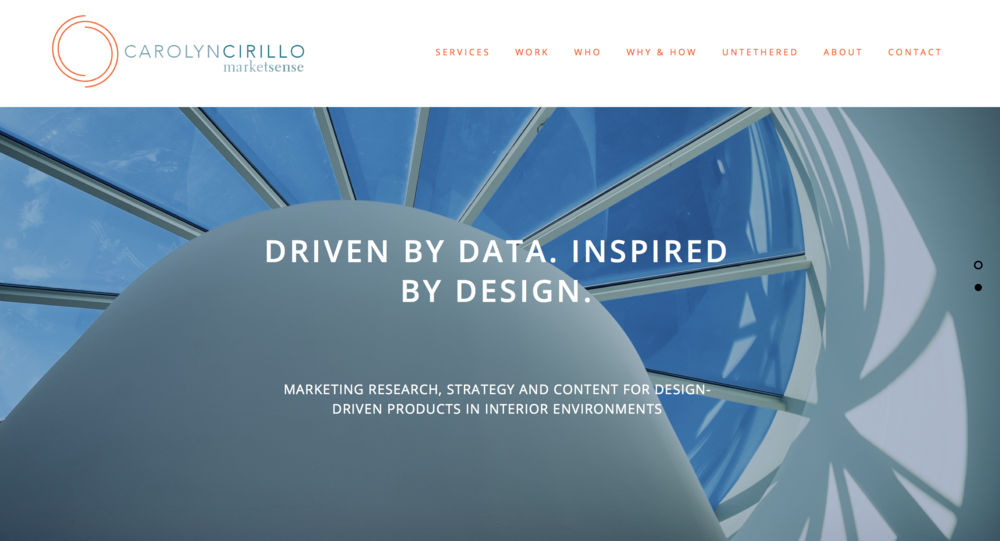 The homepage for Carolyn Cirillo
