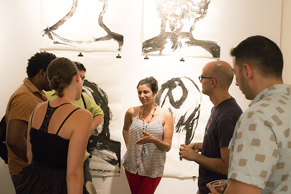 Artists networking at a DELVE event.