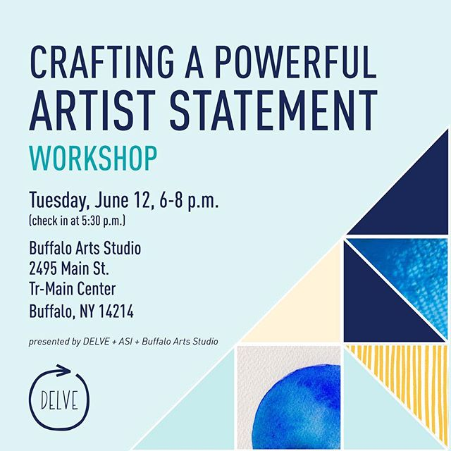 We're bringing our popular Artist Statement Workshop to Buffalo, N.Y. on June 12th! This workshop is perfect for you if you:⠀ • have trouble writing about your work or a certain project⠀ • don't have the time or motivation to prepare written work to apply for opportunities⠀ • aren't sure if your words are working to enlighten your audience in the right way⠀ Leave feeling more confident about writing about your work.⠀ ⠀ Get tickets on our site (only $10), link in bio. Excited to be partnering with @asiwny and thanks to @buffaloartsstudio for hosting!! ⠀ #Buffalo #Buffaloartists #WNY #artiststatement