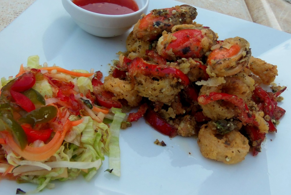 curried calamari and mussels