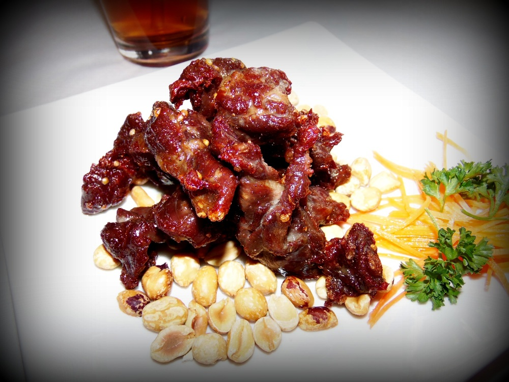 Thai drunken beef jerkey